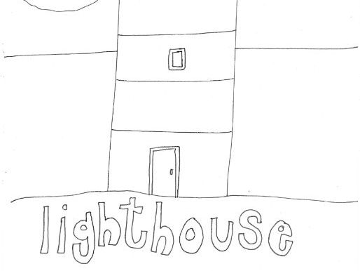 Lighthouse Colouring Page