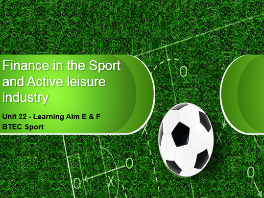 BTEC Sport L3 - Unit 22 - Learning Aim E + F