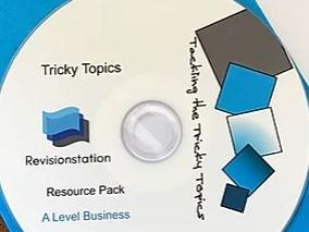 Remote / distance learning pack for A Level Business: The Tricky Topics