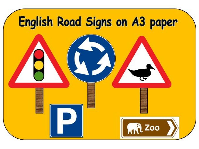 A3 road signs English