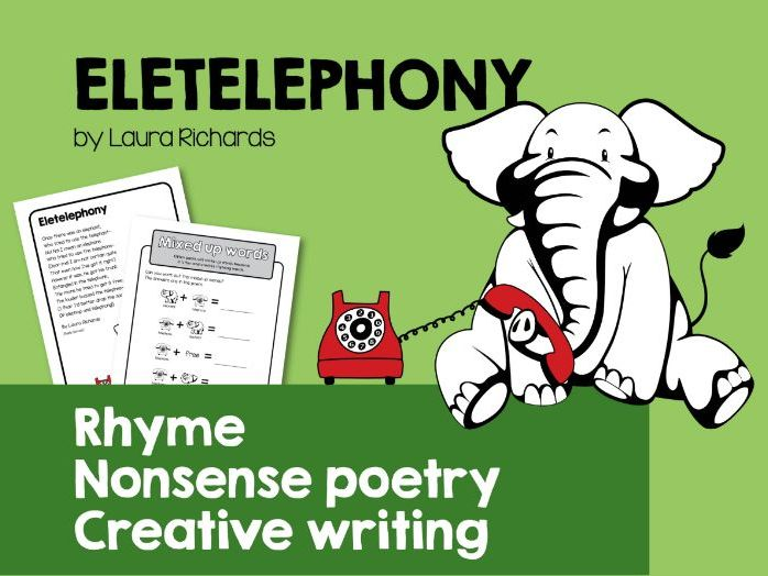 Rhyme, nonsense poetry & creative writing. 'Eletelephony' by Laura Richards
