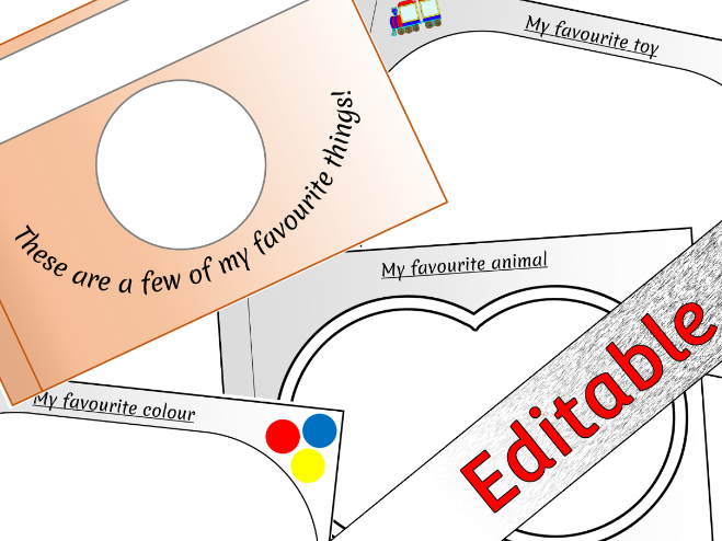 My Favourite Things (All About Me) Booklet - Editable
