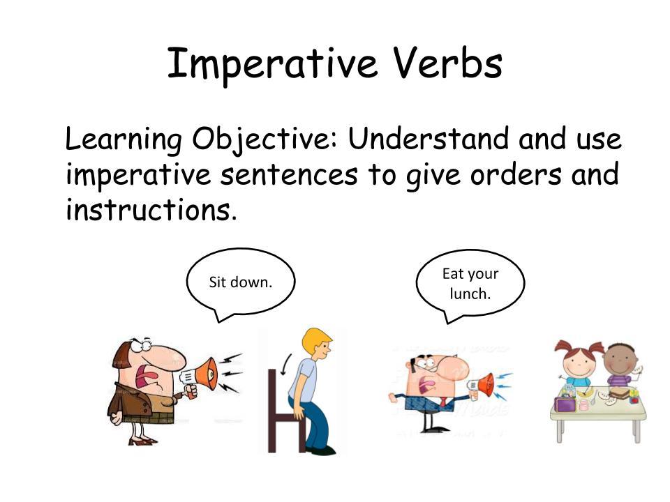 Imperative Verbs Workbook for KS2