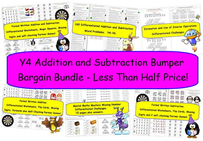 Y4 Addition and Subtraction Bumper Bargain Bundle - Less Than Half Price!