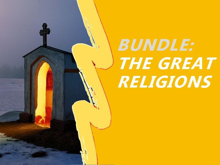 World Religions Bundle - Hinduism and Hindu Gods; Judaism, Commandments and Moses; Buddhism and the Middle Way; Christianity and Christ; Islam and Muhammad