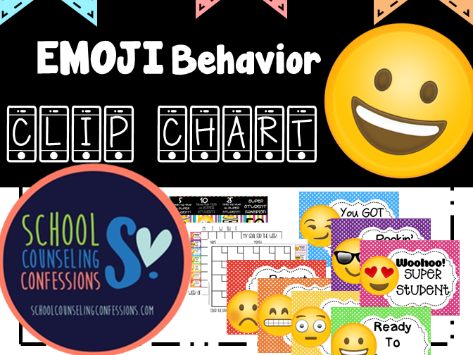 EMOJI Behavior Chart - 2 styles!  Includes:  Parent Letters, Data Forms, Desk Size & much more!