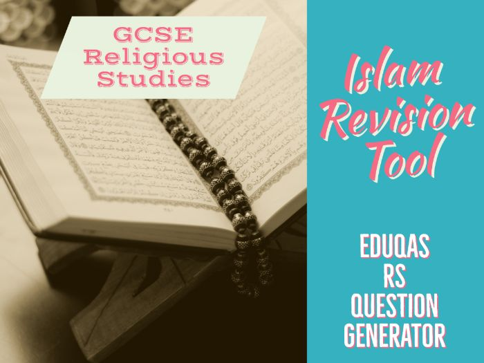 Eduqas GCSE Religious Studies test questions - Islam units