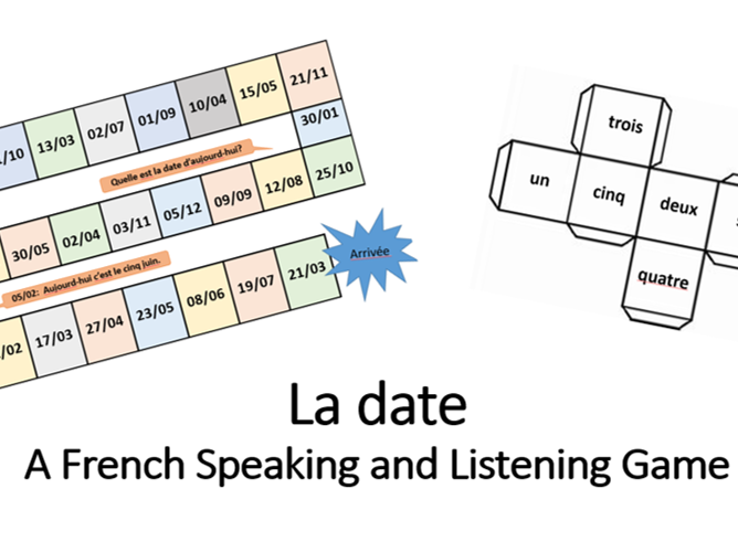 Middle school French resources: days, dates, months, seasons