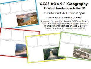AQA Geography Rivers and Coasts Revision Sheets - Image Analysis