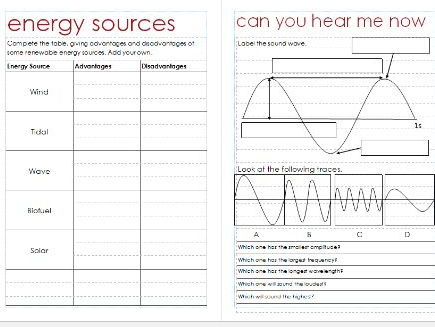 Physics Revision - Year 9 (pre-GCSE)