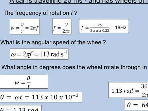 A level Physics (17.1) Uniform circular motion (Motion in a circle)