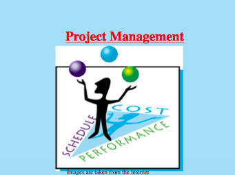 Design, Produce and Evaluate  - Project Management