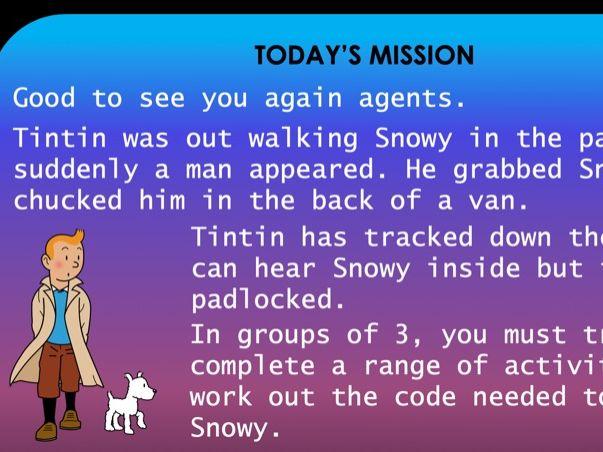 Tintin Escape Room