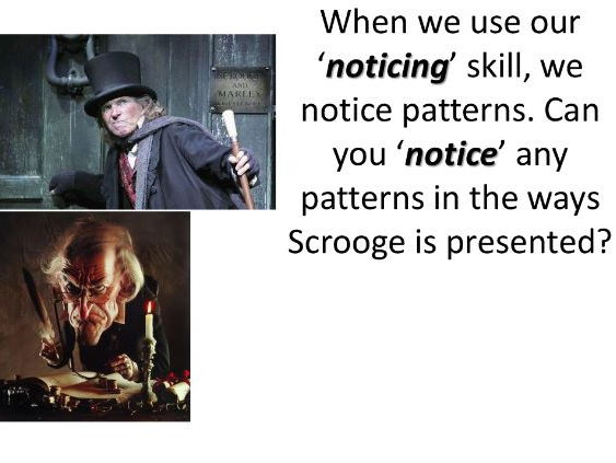 Year 9 'A Christmas Carol' Describe Scrooge at the beginning of the story