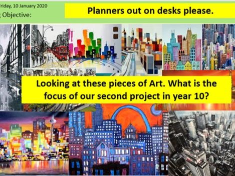 Art and Design Cityscapes KS4 Scheme of Work