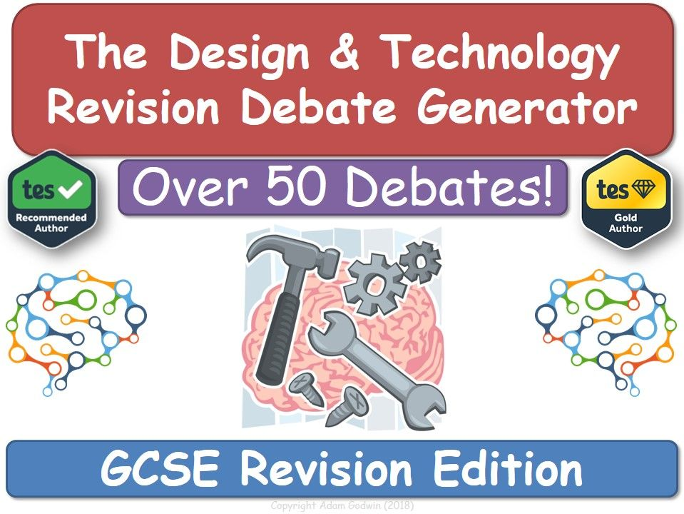 Revision Debate Generator - Design & Technology (DT, Design, Technology, DT, AQA, OCR)