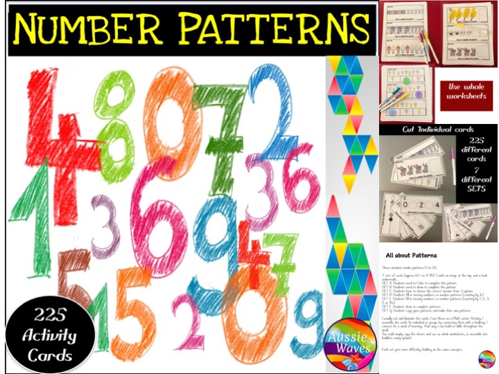 Printable Math Centre Activity Counting Numbers 0-20 Number Patterns
