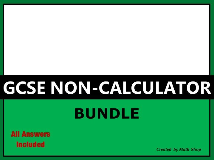 GCSE Non-Calculator Bundle
