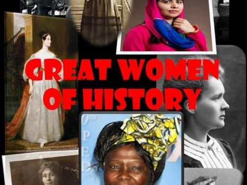 Great Women of History Display
