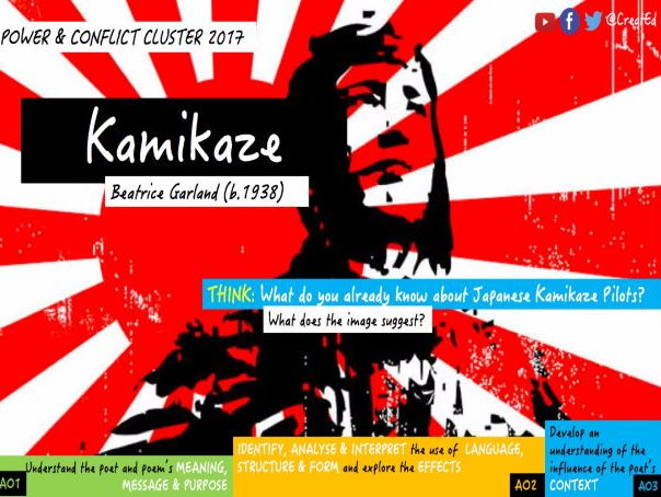 Kamikaze, Beatrice Garland: Power & Conflict Cluster 2017 (AQA GCSE English Literature)