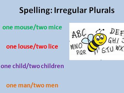 Spelling: Irregular Plurals