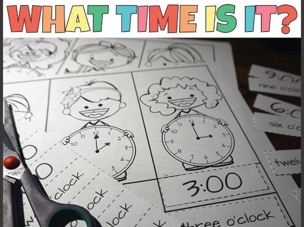 Telling Time to the Hour Cut and Paste Activity
