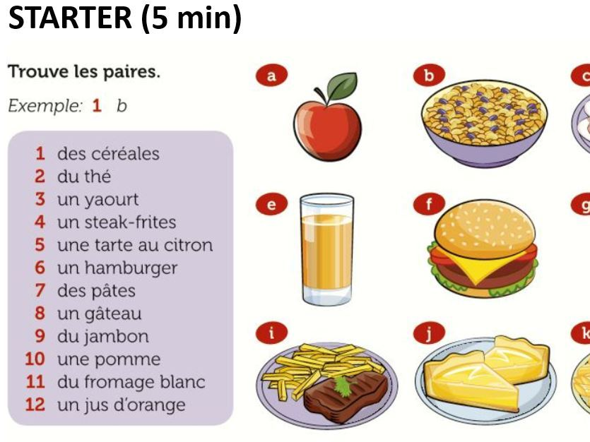 KS3 French  Attention! Danger! Healthy eating Perfect tense Past tense
