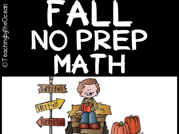 Fall Math NO PREP (kindergarten)