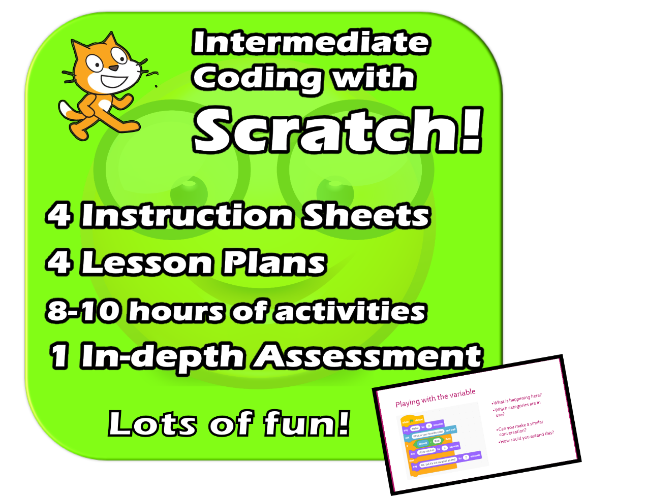 Scratch 3.2 - Intermediate Course - Complete fun EDITABLE Unit - Games, Programming, Resources, PPTs