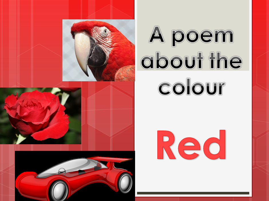 Powerpoint Poem about the colour RED. EYFS/KS1