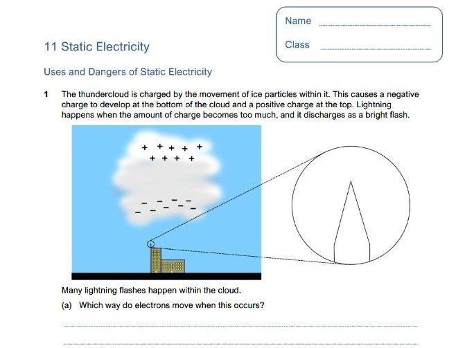 GCSE Physics - 11 Static Electricity