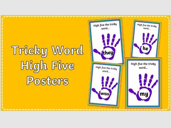 Phase 3 Tricky Word High Five Posters