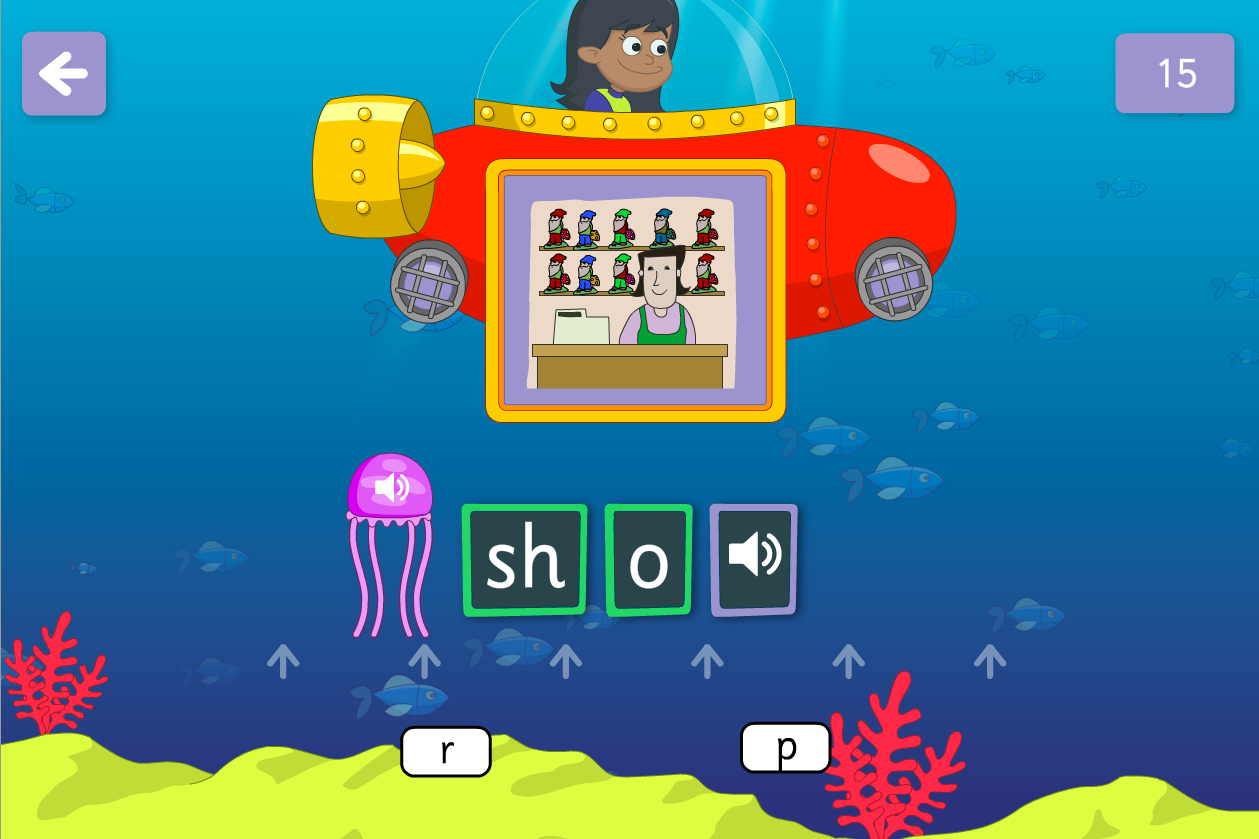 Underwater Words Game - Vowel Graphemes - Phase 3