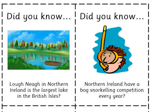 Fun Fact Cards: Northern Ireland