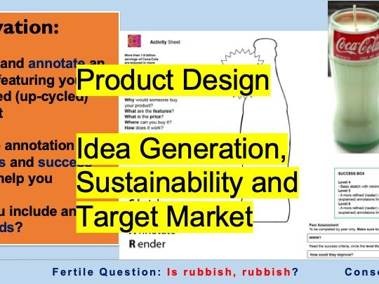 Product Design - Idea Generation, Sustainability and Target Market