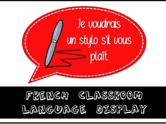 French Classroom Language Display