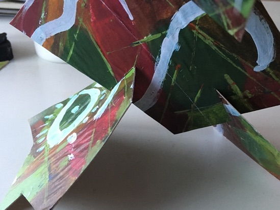 Cubism 3D construction from Celebrity Collage and learning about Analytical Cubism