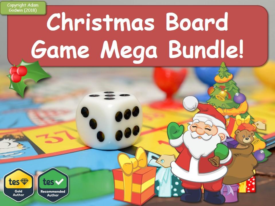Spanish Christmas Board Game Mega-Bundle! (Fun, Quiz, Christmas, Xmas, Boardgame, Games, Game, Revision, GCSE, KS5, AS, A2, Quiz) Spanish