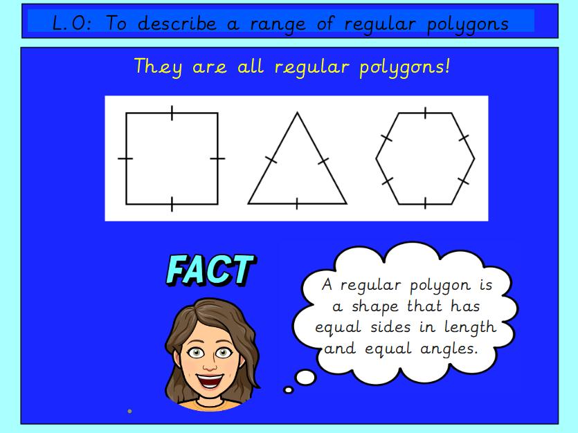 Year 5 maths - regular and irregular polygons