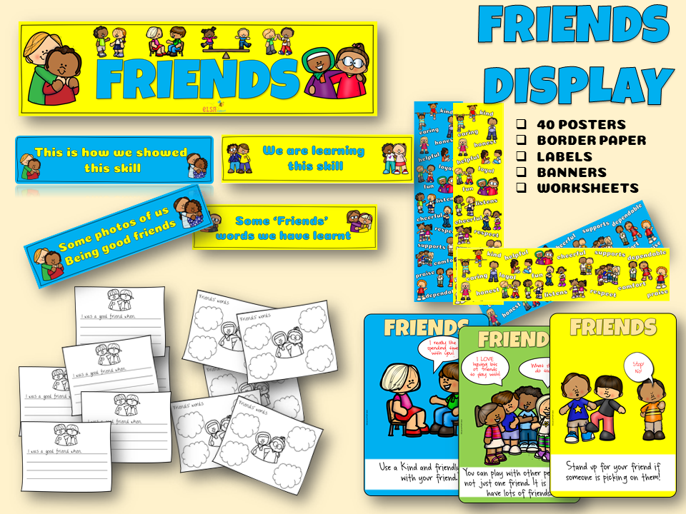 FRIENDS Display pack pshce