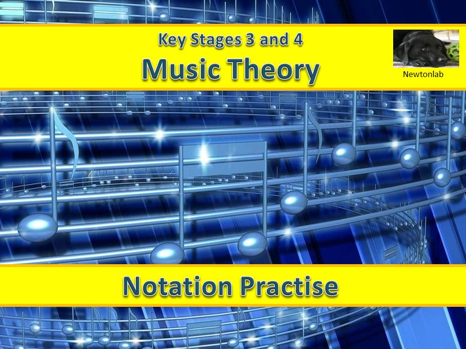 Music Notation Practise-Treble and Bass Clefs - Key Stages 3 and 4