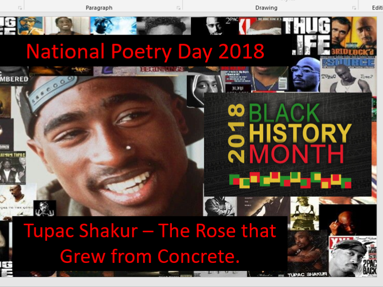 Tupac Poetry Lesson - National Poetry Day - The Rose That Grew From Concrete