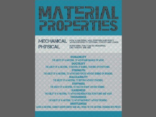 DT Material Properties - Poster