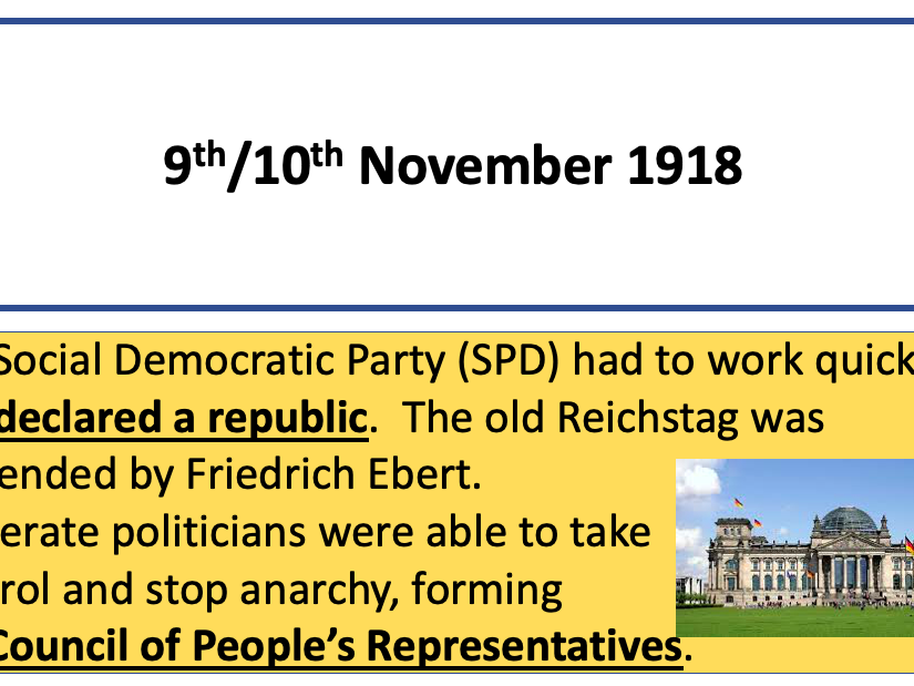 Edexcel 9-1 Weimar and Nazi Germany knowledge revision cards