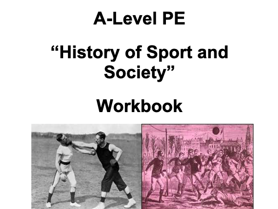 A-Level PE (OCR): History of Sport Workbook