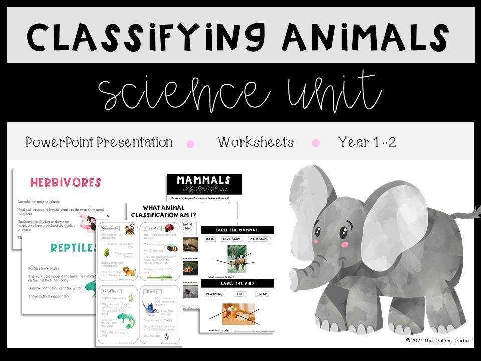 Classifying Animals KS1