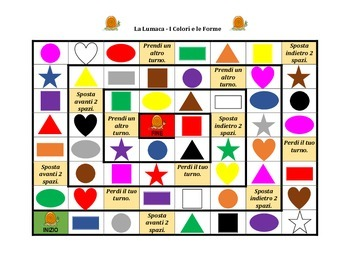 Colori e Forme (Colors and Shapes in Italian) Lumaca Snail game