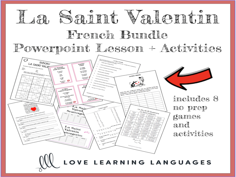 french valentine 39 s day lesson powerpoint 8 activities by jenniferlcrespin teaching resources. Black Bedroom Furniture Sets. Home Design Ideas