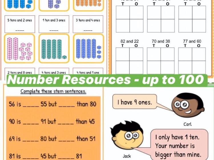 Year 1 Number and Place Value Resources to 100