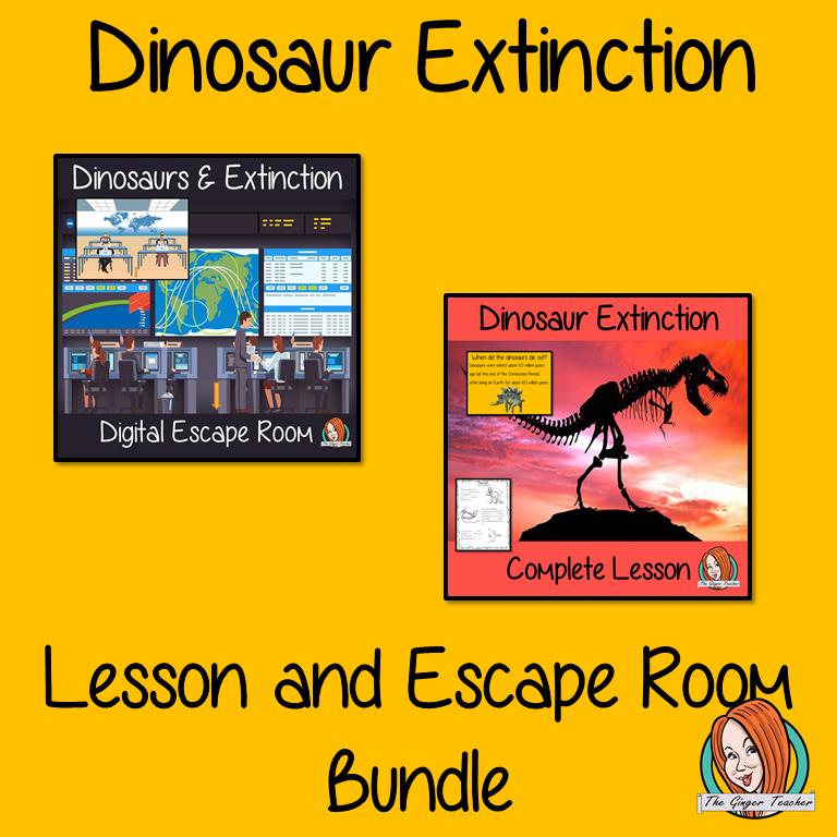 Dinosaur Extinction Lesson and Escape Room Bundle